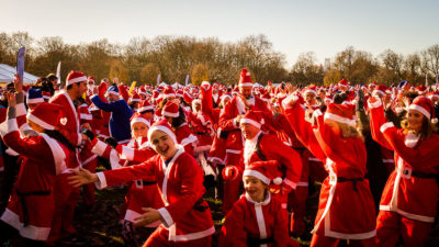 Santa Run Group Shot